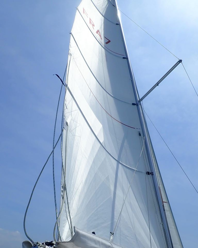 grand voile à corne en CDX PRO gris par Rolly Tasker sur beneteau Oceanis 30.1 pour plus de performance et de plaisir
